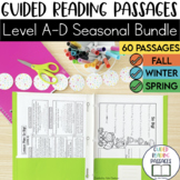Guided Reading Passages Bundle: Seasonal Edition {Level A-D}