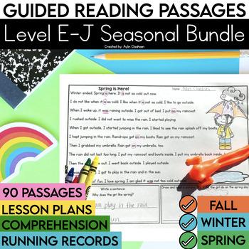 Guided Reading Passages Bundle: Seasonal Edition {Level E-J}