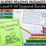 Guided Reading Passages Bundle: Seasonal Edition {Level K-M}