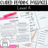 Guided Reading Passages: Level A