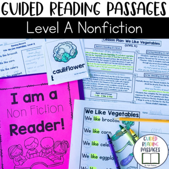 Guided Reading Passages: Level A (Non Fiction)