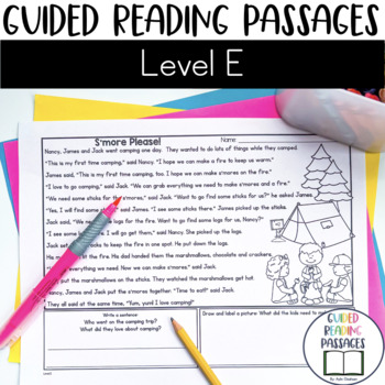 Guided Reading Passages: Level E