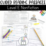 Guided Reading Passages: Level E (Non Fiction)