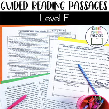Guided Reading Passages: Level F