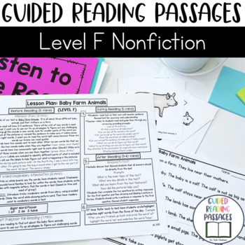 Guided Reading Passages: Level F (Non Fiction)
