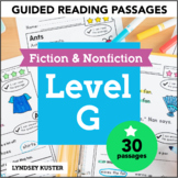 Guided Reading Passages - Level G