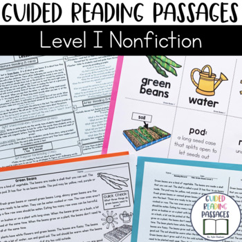 Guided Reading Passages: Level I (Non Fiction)