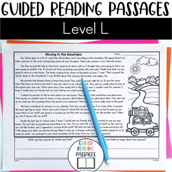 Guided Reading Passages: Level L