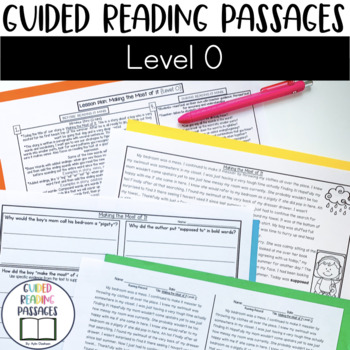 Guided Reading Passages: Level O