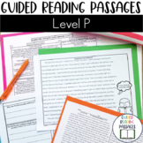 Guided Reading Passages: Level P