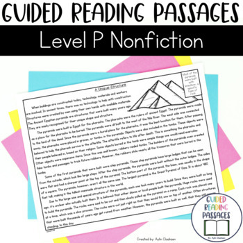 Guided Reading Passages: Level P (Non Fiction)