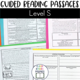 Guided Reading Passages: Level S