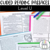 Guided Reading Passages: Level U