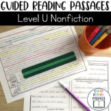 Guided Reading Passages: Level U (Non Fiction)