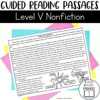 Guided Reading Passages: Level V (Non Fiction)