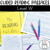 Guided Reading Passages: Level W
