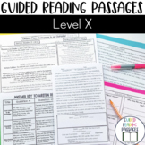 Guided Reading Passages: Level X