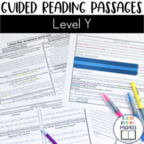 Guided Reading Passages: Level Y