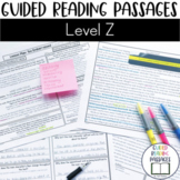 Guided Reading Passages: Level Z