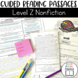 Guided Reading Passages: Level Z (Non Fiction)