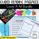 Guided Reading Passages Bundle: Level A-M