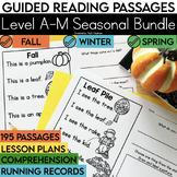 Guided Reading Passages Mega Bundle: Seasonal Edition {Level A-M}