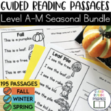 Guided Reading Passages Bundle: Seasonal Edition {Level A-M}