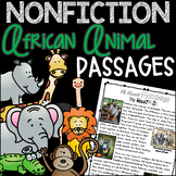 Guided Reading Passages Nonfiction AFRICAN ANIMALS BUNDLE for First/Second Grade