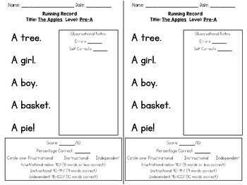 Guided Reading Passages: Seasonal Edition {Level Pre-A}