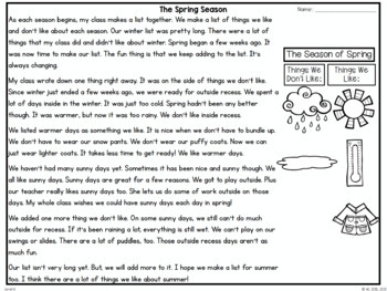 Guided Reading Passages: Spring Edition {Level K-M}