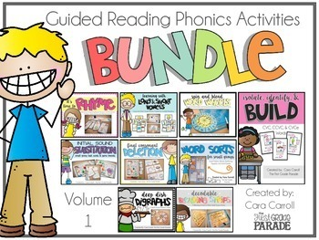 Guided Reading Phonics Activities Bundle - Vol. 1