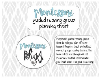 Guided Reading Planning