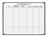 Guided Reading Planning Forms