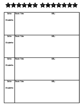 Guided Reading - Planning Template