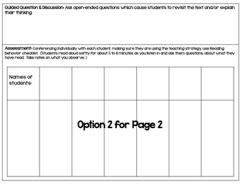Guided Reading Lesson Plan Template (Editable) and Conferencing notes