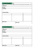 Guided Reading Planning Template Proforma