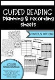 Guided Reading Planning and Recording Sheets - Lower Primary