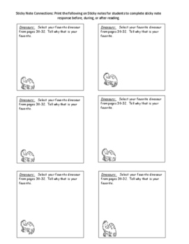 Guided Reading Plans: Dinosaurs- Level G