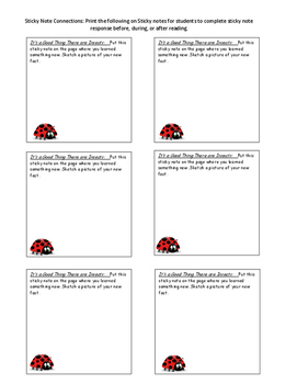 Guided Reading Plans: It's a Good Thing That There are Insects- Level G