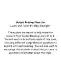 Guided Reading Plans Level I:  Lenny and Tweek by Klaus Baumgart