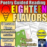 Guided Reading Plans: Poetry - Eighteen Flavors by Shell S