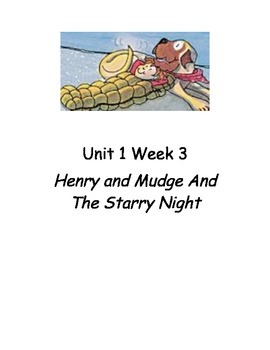 Guided Reading Plans for Henry and Mudge and the Starry Night
