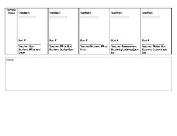 Guided Reading Plans with Word Work Schedule for 5 groups