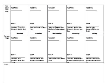 Guided Reading Plans with Word Work Schedule for 4 groups