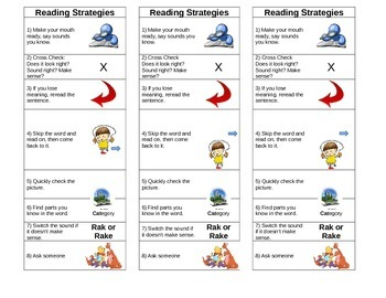 Guided Reading Plus Decoding Strategy Poster and Bookmarks