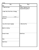Guided Reading Plus Lesson Plan Sheet