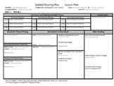 Guided Reading Plus Lesson Plan Template Multiple Grades K - 2