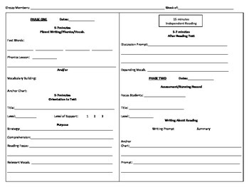 Guided Reading Plus Lesson Plans