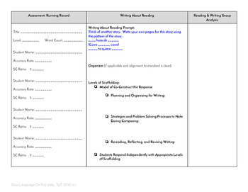 Guided Reading Plus Planner for Mondo Corre corre Level C
