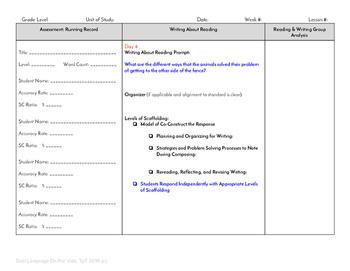 Guided Reading Plus Planner for Mondo La cerca Level B